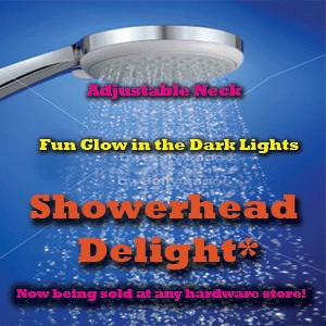 Web Page Ad for Shower head Delight
